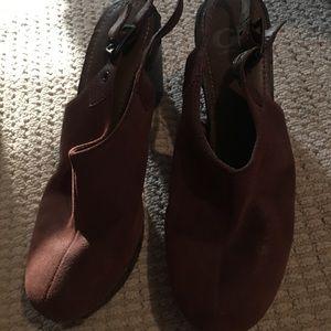 Gianni bini brown suede clog shoes